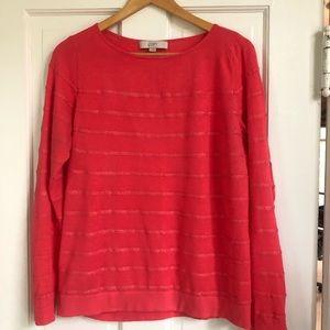 Loft Coral Lightweight Sweater